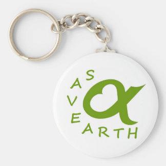save earth planète porte-clef