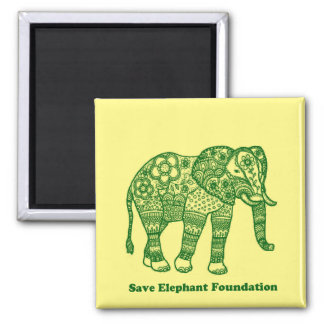 Save Elephant Foundation Magnet