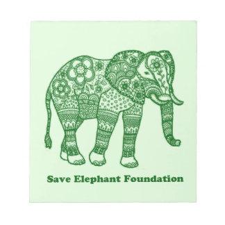 Save Elephant Foundation Notepad