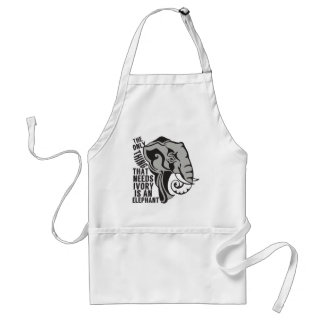 Save Elephants Adult Apron