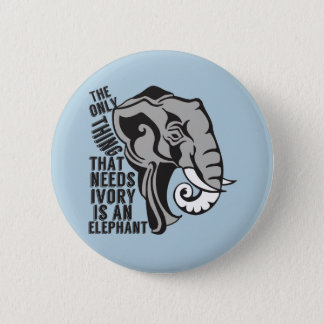 Save Elephants Button