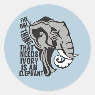 Save Elephants Classic Round Sticker