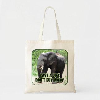 Save Elephants, Don't Buy Ivory Tote Bag