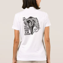 Save Elephants Polo Shirt