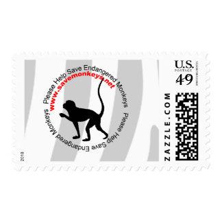 Save Endangered Monkeys Postage Stamp