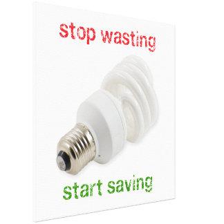 Save energy canvas print