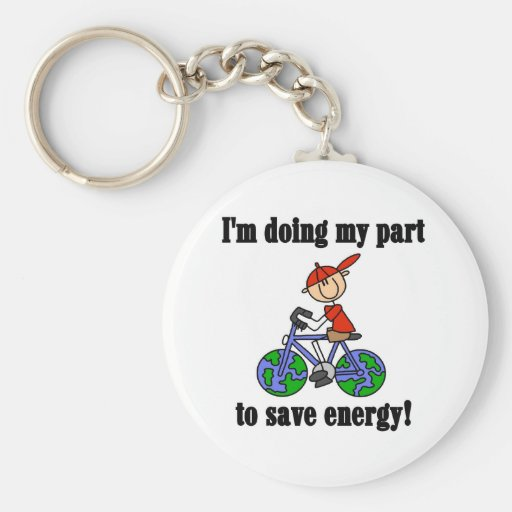 Save Energy Environmental Tshirts and Gifts Keychain