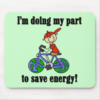 Save Energy Environmental Tshirts and Gifts Mouse Pad