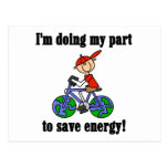 Save Energy Environmental Tshirts and Gifts Postcard