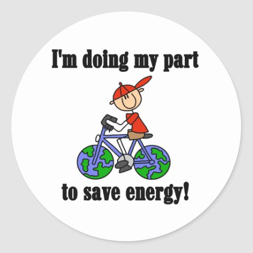 Save Energy Environmental Tshirts and Gifts Sticker