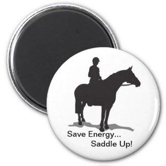 Save Energy... Saddle Up Magnet - English Rider