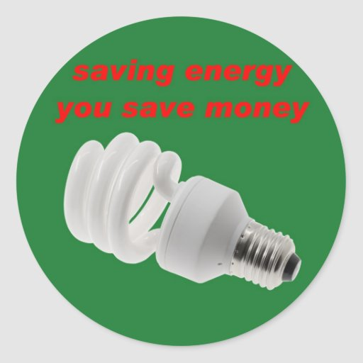 Save energy sticker