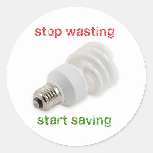 Save energy round sticker