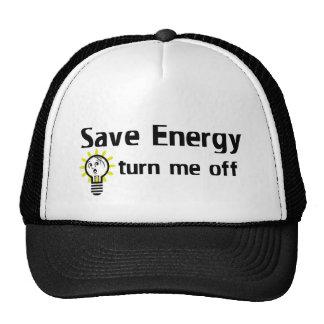 Save Energy turn me off Mesh Hats