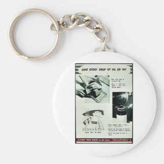 Save Every Drop Of Oil Or Fat Key Chain