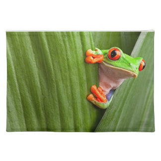 Save eyed tree frog cloth placemat