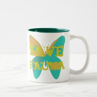 Save Fauna Two-Tone Coffee Mug