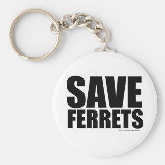 Save Ferrets! Basic Round Button Keychain