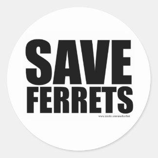Save Ferrets! Sticker