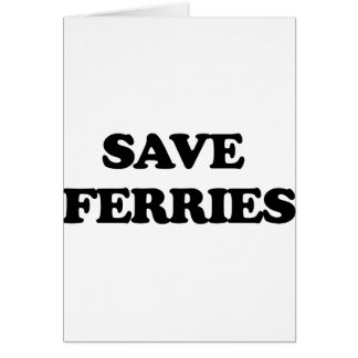 Save Ferries Cards