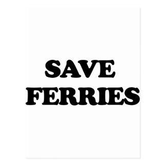 Save Ferries Postcard