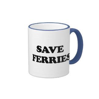 Save Ferries Ringer Coffee Mug