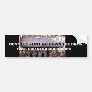 Save Flint's Neighborhoods Bumper Sticker