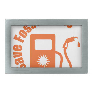 Save Fossil Fuels Belt Buckle