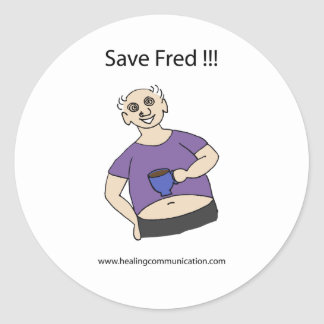 Save Fred Classic Round Sticker