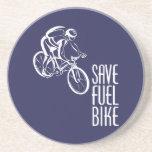 Save Fuel Bike Beverage Coaster