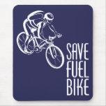 Save Fuel Biking Mouse Pad