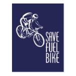 Save Fuel Biking Post Card