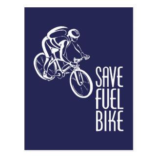 Save Fuel Biking Postcard