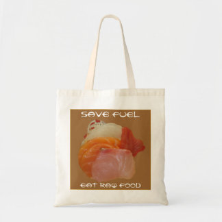 Save Fuel ~Eat Raw Food Canvas Bags