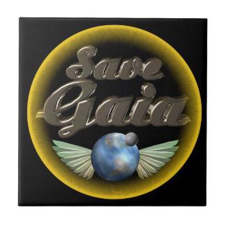Save Gaia our Earth Ceramic Tile