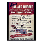 Save Gas And Rubber Postcards