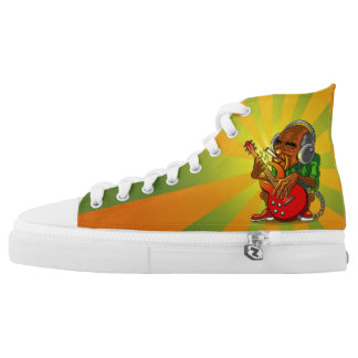 save gas, play guitar High-Top sneakers