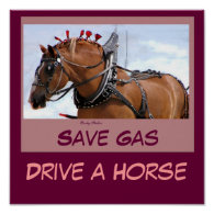 Save Gas Poster