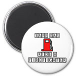 Save Gas...Ride A Firefighter Fridge Magnets