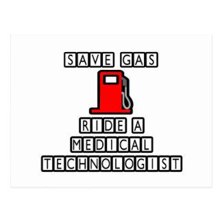 Save Gas...Ride A Medical Technologist Postcard