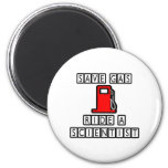 Save Gas...Ride A Scientist Refrigerator Magnets