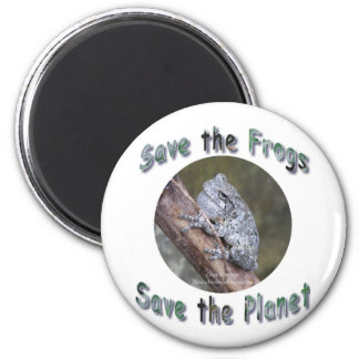 Save Gray Treefrogs 2 Inch Round Magnet