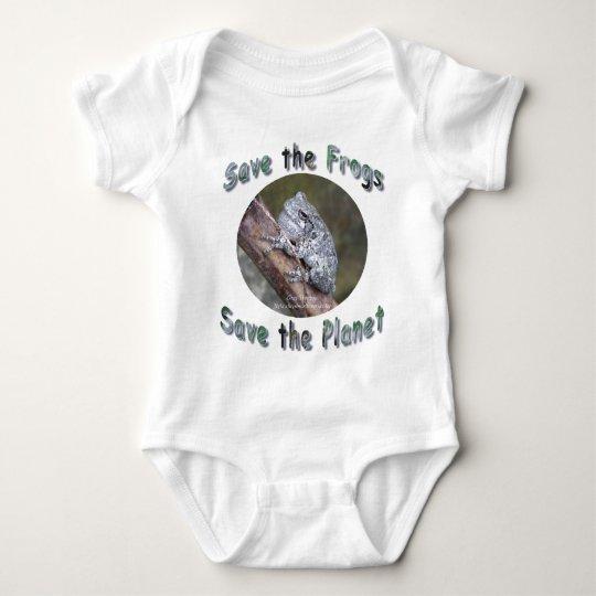 Save Gray Treefrogs Baby Bodysuit