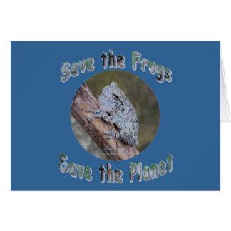 Save Gray Treefrogs Greeting Card