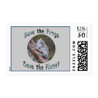 Save Gray Treefrogs Postage