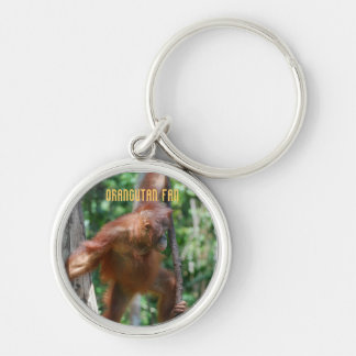 Save Great Apes Silver-Colored Round Keychain