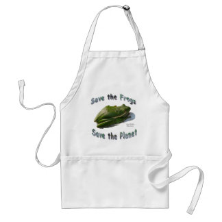 Save Green Treefrogs Adult Apron