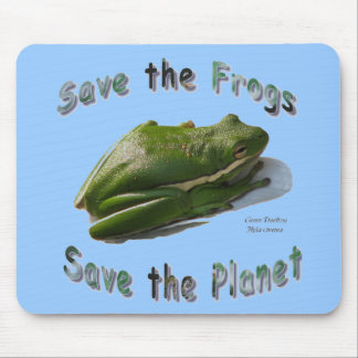 Save Green Treefrogs Mouse Pad