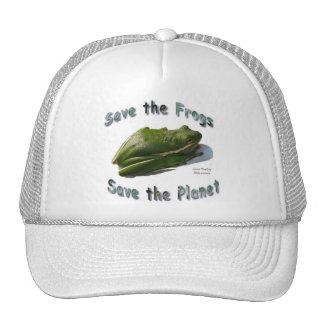 Save Green Treefrogs Trucker Hat