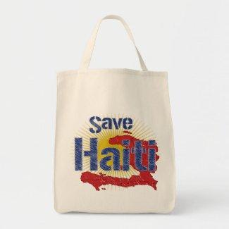 Save Haiti (Blue) bag